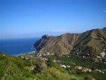 Beautiful valley of Hermigua on La Gomera