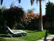 Garden, sun and shaded terrace at Oasis Bungalow Miraflor in Valle Gran Rey