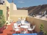 Sunny terrace at Hotel Garajonay in San Sebastian de La Gomera