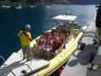 Speedboat's departure from the harbour in Valle Gran Rey