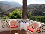 Beautiful terrace of the Studio Aloe Vera in Hermigua
